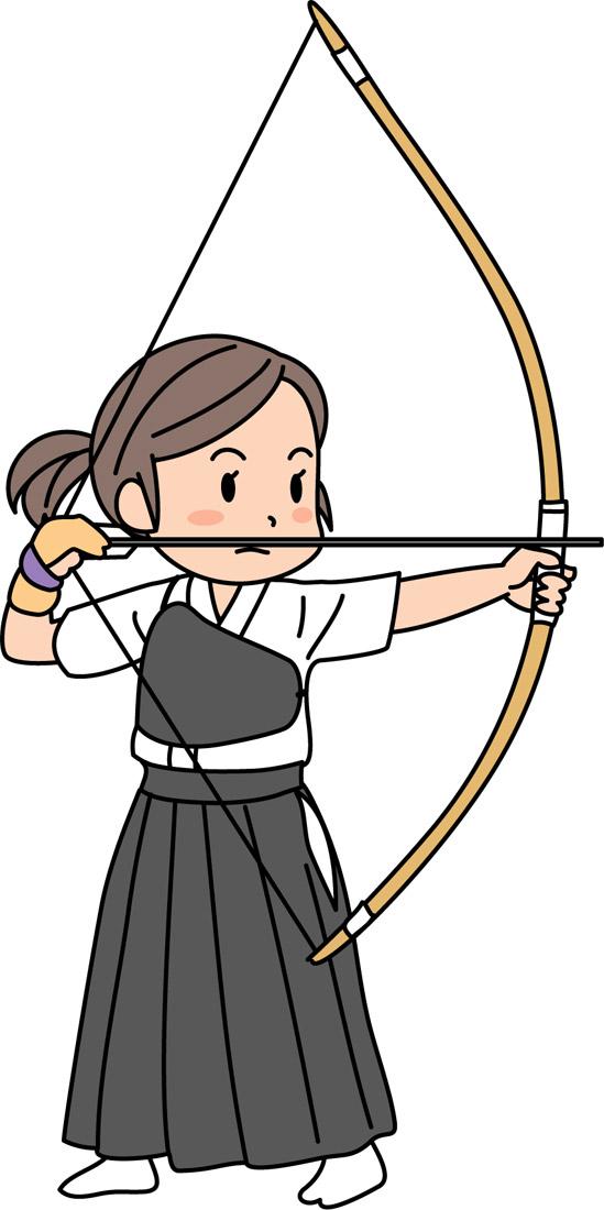 弓道部の女子