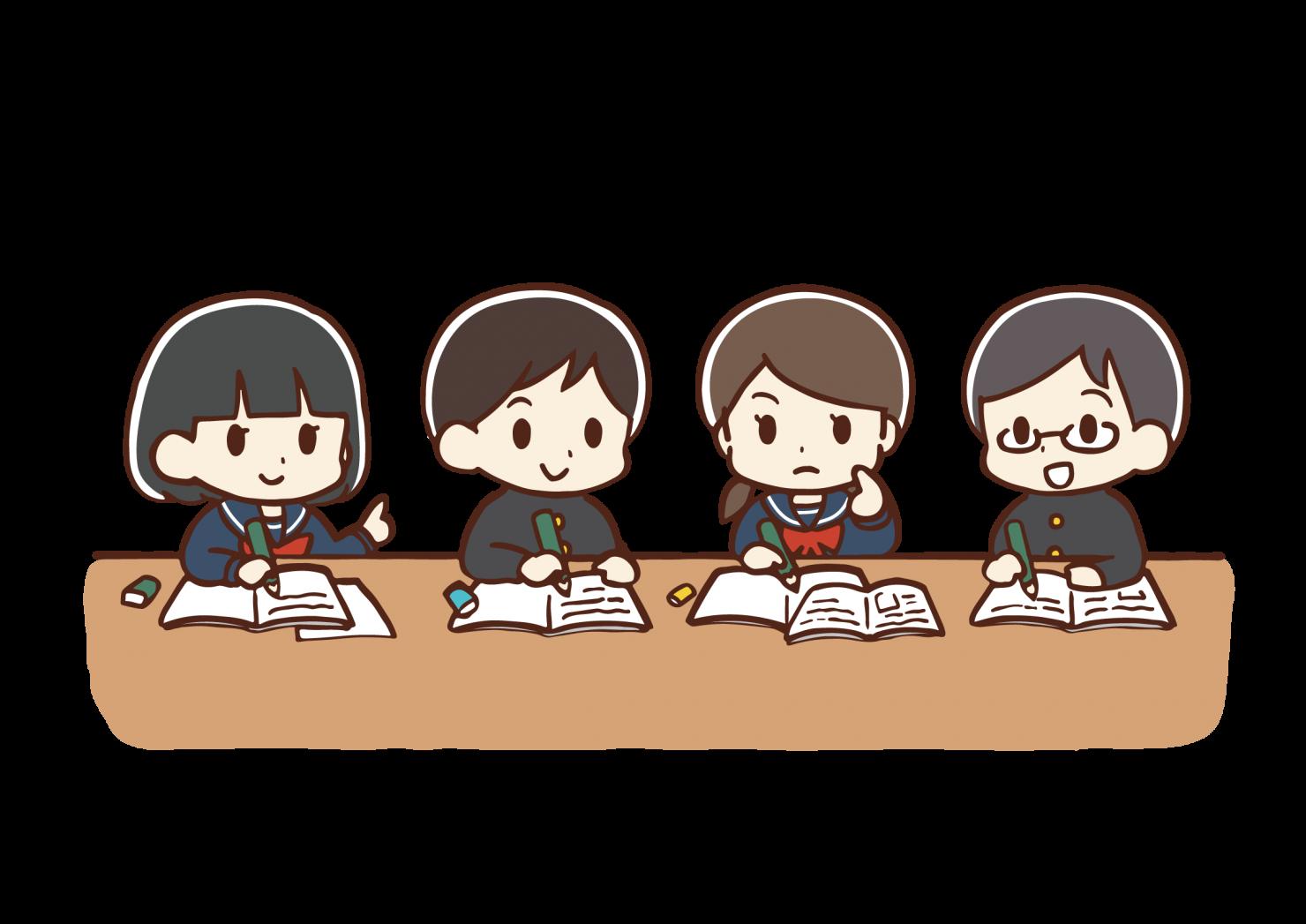 勉強する学生たち